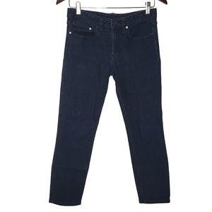 Tory Burch Cropped Skinny Jean, Dark Wash, Sz 27